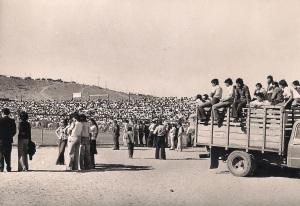 Ascenso de Deportes Ovalle a primera división en el Estadio Ferrovario, noviembre de 1975.