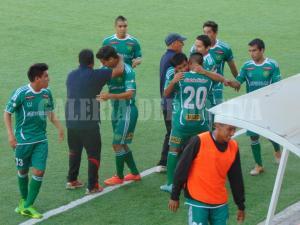 La celebración verde antes del final. (Galería Deportiva)